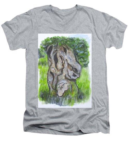 Wisdom Olive Tree Men's V-Neck T-Shirt
