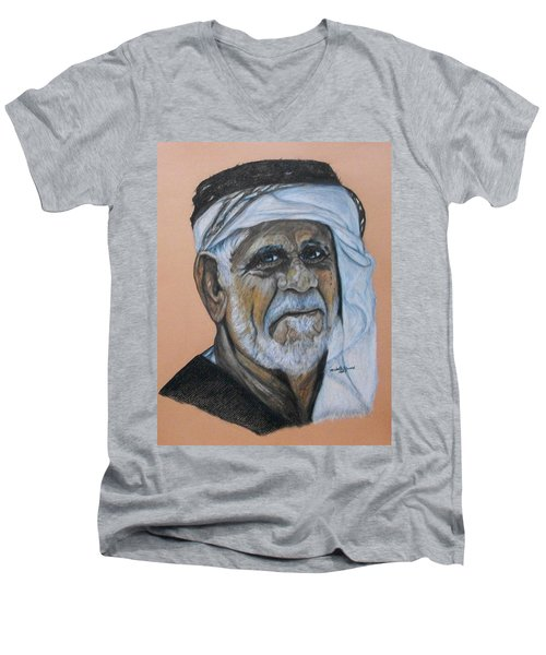 Wisdom Portrait Men's V-Neck T-Shirt