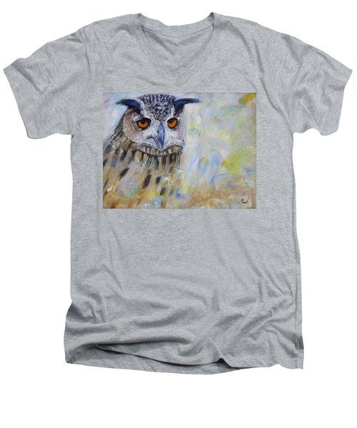 Wise Owl Men's V-Neck T-Shirt