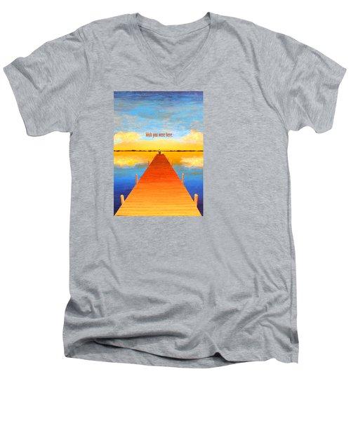 Wish - Pier - Greeting Card Men's V-Neck T-Shirt