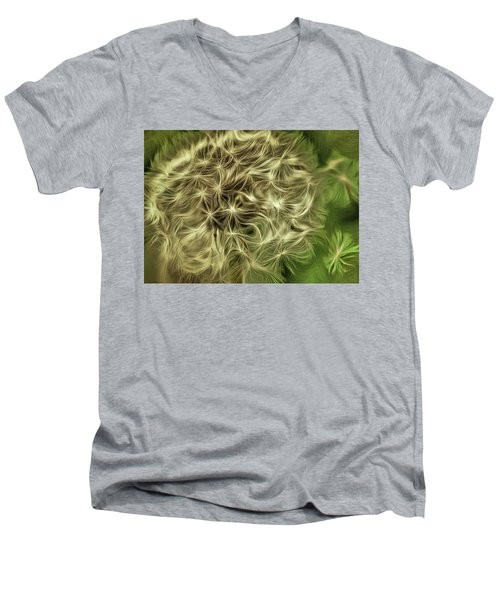 Men's V-Neck T-Shirt featuring the mixed media Wishies by Trish Tritz