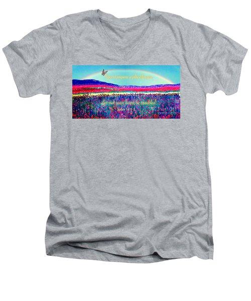 Wishing You The Sunshine Of Tomorrow Bereavement Card Men's V-Neck T-Shirt