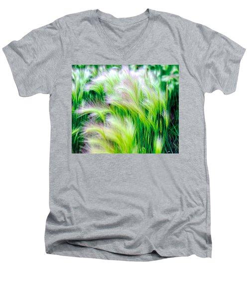 Wispy Green Men's V-Neck T-Shirt