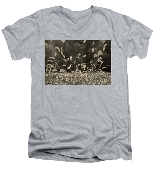 Men's V-Neck T-Shirt featuring the photograph Wispy by Joanne Coyle