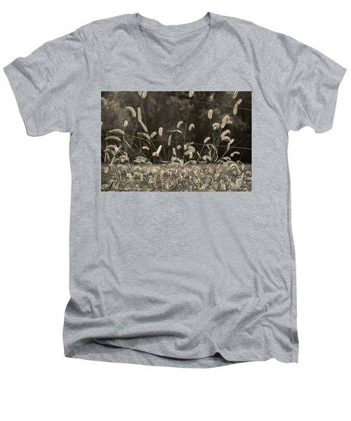 Wispy Men's V-Neck T-Shirt by Joanne Coyle