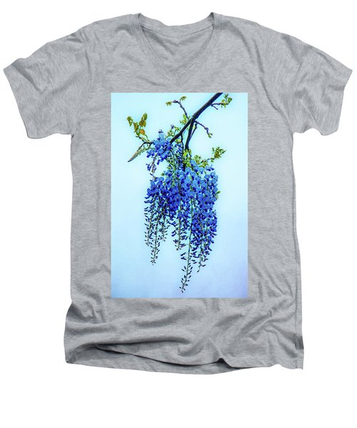Men's V-Neck T-Shirt featuring the photograph Wisteria by Chris Lord