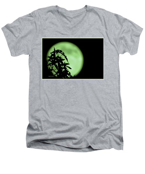 Men's V-Neck T-Shirt featuring the photograph Witching Hour by DigiArt Diaries by Vicky B Fuller