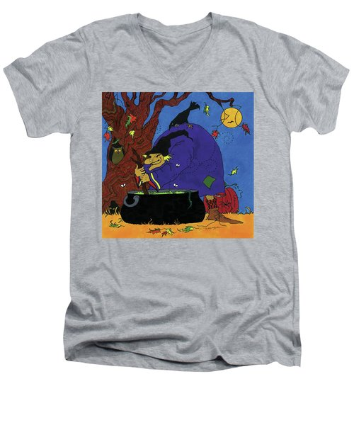 Witch's Brew Men's V-Neck T-Shirt