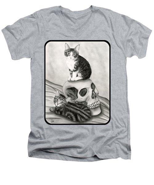 Witch's Kittens Men's V-Neck T-Shirt