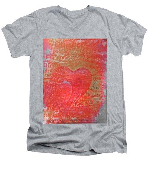 With Heart Men's V-Neck T-Shirt
