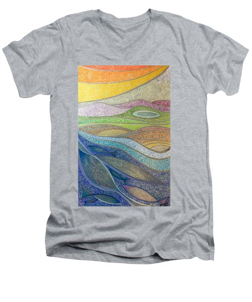 With The Flow Men's V-Neck T-Shirt