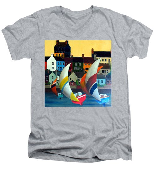With The Wind In Kinsale, West Cork Men's V-Neck T-Shirt