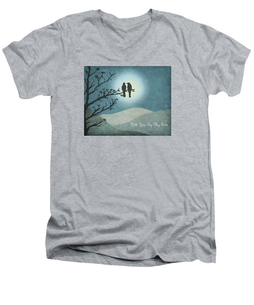 With You By My Side Landscape View Men's V-Neck T-Shirt by Christina Lihani