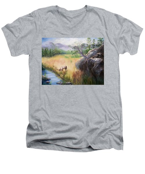 Within Yellowstone Men's V-Neck T-Shirt