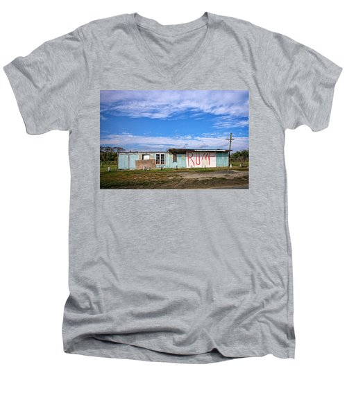 Men's V-Neck T-Shirt featuring the photograph Without A T by Alan Raasch