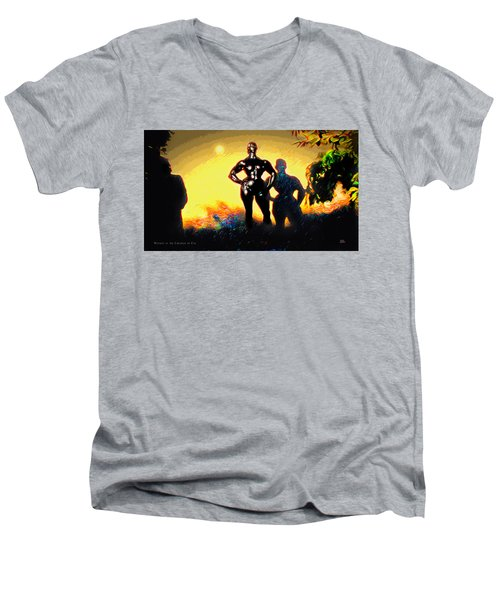 Witness At The Creation Of Eve Aws 2 Men's V-Neck T-Shirt