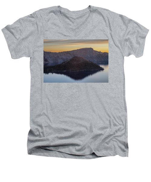 Wizard Island Morning Men's V-Neck T-Shirt