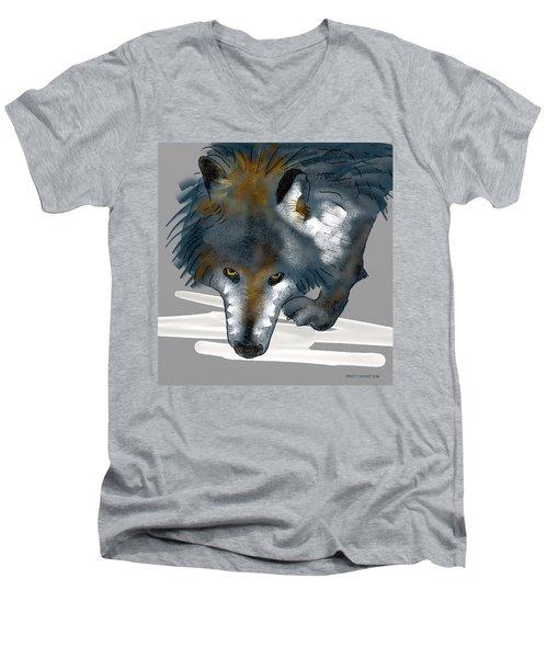 Wolf. Men's V-Neck T-Shirt