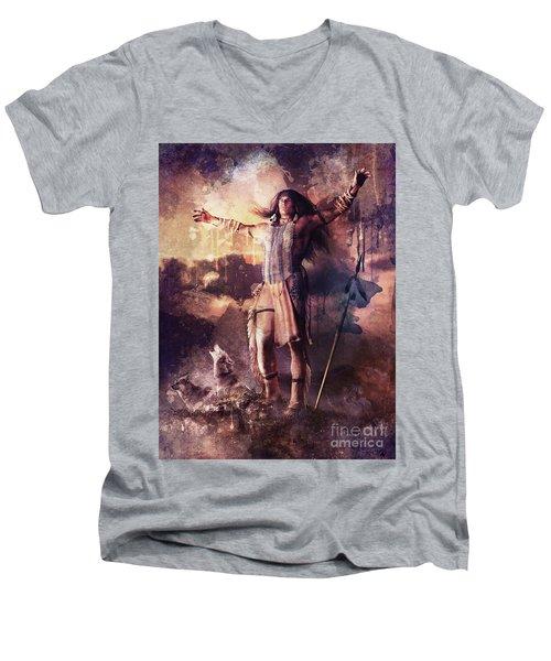 Wolf Clan Warrior Men's V-Neck T-Shirt