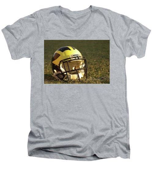 Wolverine Helmet In Morning Sunlight Men's V-Neck T-Shirt