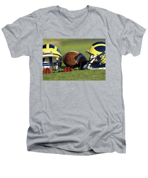 Wolverine Helmets And Roses Men's V-Neck T-Shirt