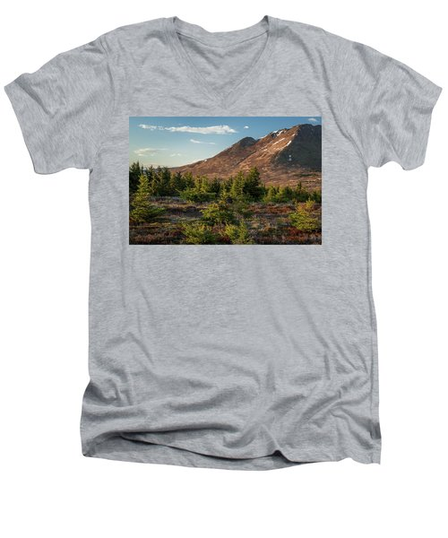 Wolverine Mt Near Sunset Men's V-Neck T-Shirt