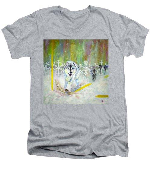 Wolves Approach Men's V-Neck T-Shirt