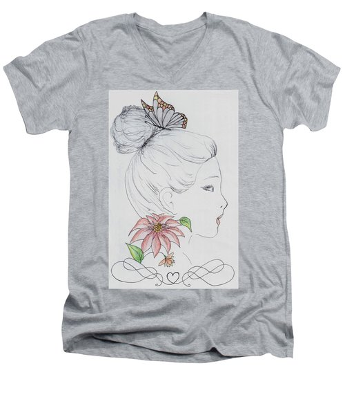 Woman Design - 2016 Men's V-Neck T-Shirt