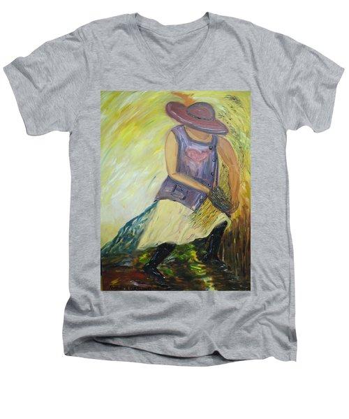 Woman Of Wheat Men's V-Neck T-Shirt