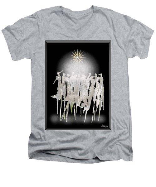 Women Chanting - Spirit Dance Men's V-Neck T-Shirt