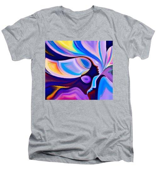 Women Men's V-Neck T-Shirt by Karen Showell