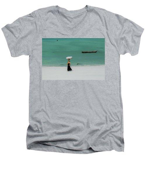 Women Worker Men's V-Neck T-Shirt