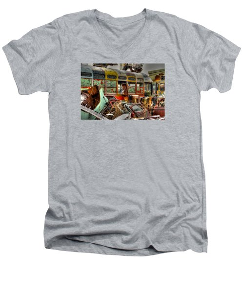 Wonder Bus Men's V-Neck T-Shirt