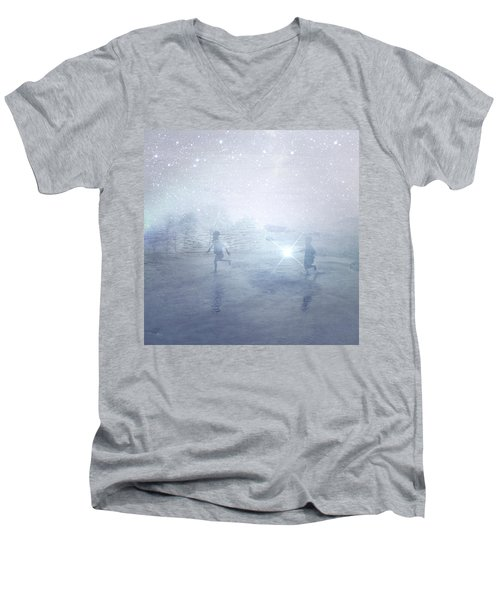 Wonder On A Starry Night Men's V-Neck T-Shirt