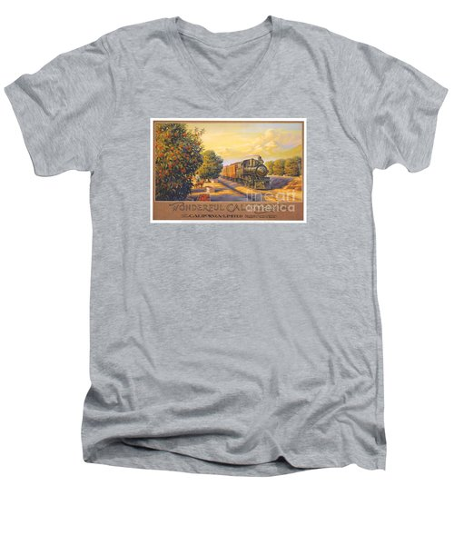 Wonderful California Men's V-Neck T-Shirt by Nostalgic Prints