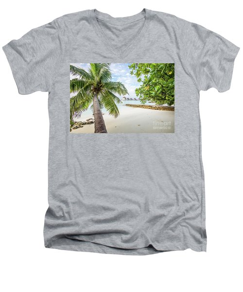 Men's V-Neck T-Shirt featuring the photograph Wonderful View by Hannes Cmarits