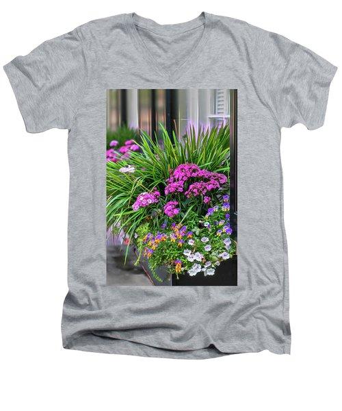 Wonderful Window Boxes Of Charleston Men's V-Neck T-Shirt