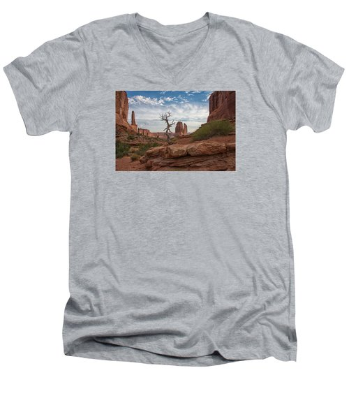 Wonders Along Park Avenue Men's V-Neck T-Shirt by Darlene Bushue