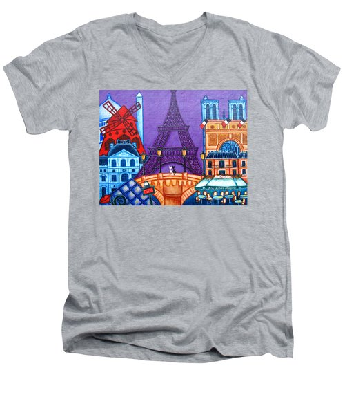 Wonders Of Paris Men's V-Neck T-Shirt