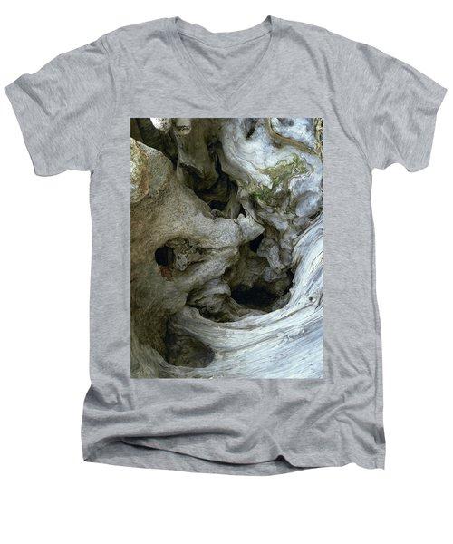 Wood Abstract Men's V-Neck T-Shirt