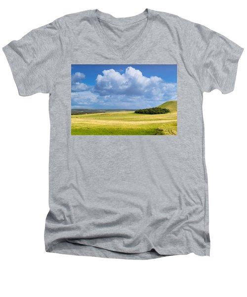 Wood Copse On A Hill Men's V-Neck T-Shirt