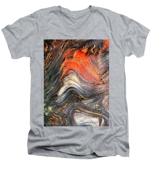 Wood Patterns Men's V-Neck T-Shirt