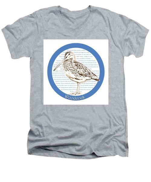 Woodcock Men's V-Neck T-Shirt by Greg Joens