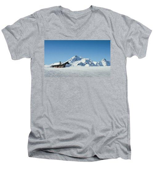 Wooden Alpine Cabin  Men's V-Neck T-Shirt