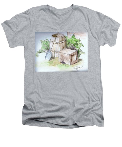 Wooden Barrel And Crate Men's V-Neck T-Shirt