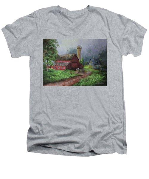 Wooden Cart Men's V-Neck T-Shirt