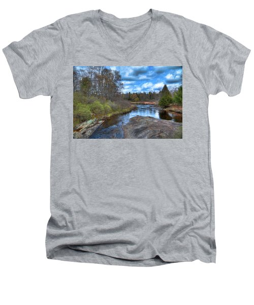 Woodhull Creek In May Men's V-Neck T-Shirt