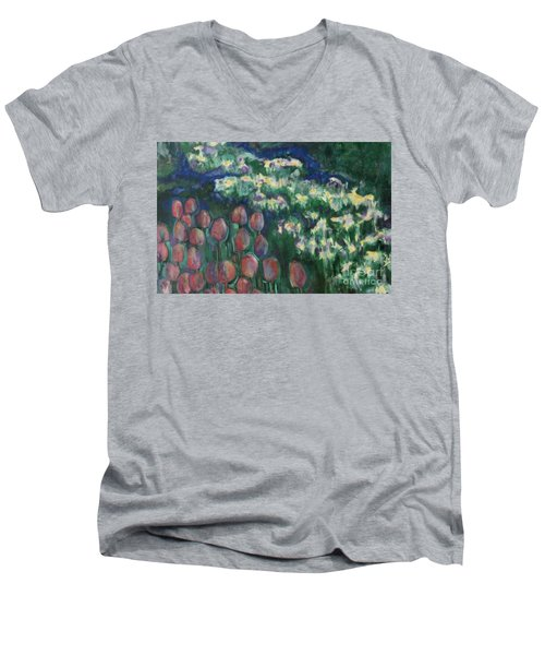 Woodland Field Men's V-Neck T-Shirt