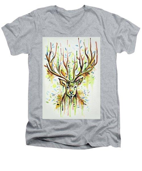 Woodland Magic Men's V-Neck T-Shirt