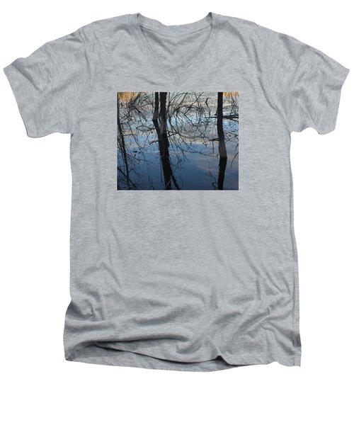 Woodland Pond Men's V-Neck T-Shirt